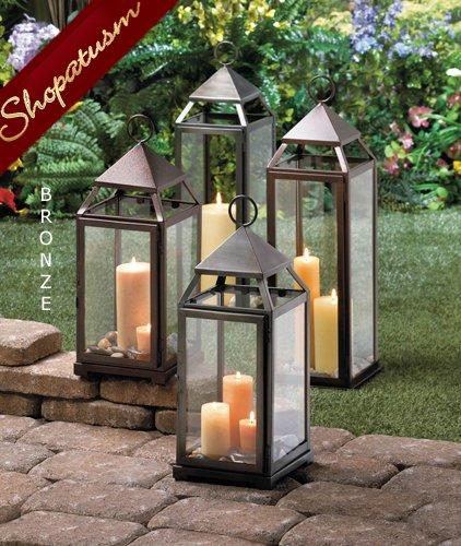 Large Wedding Centerpiece Milani Bronze Candle Lantern