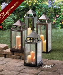 48 Milani Rustic Silver Candle Lanterns Wholesale Large Wedding Centerpieces