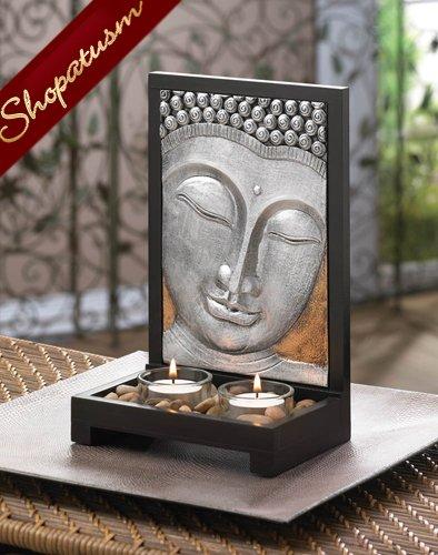 Buddha Plaque Candle Holder, Buddha Centerpiece, Sacred Space Candle Holder