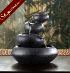 Meditation Fountain Four Tier Bowls Granite Tabletop Fountain