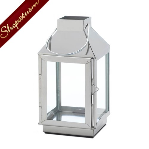48 Nova Candle Lanterns Wholesale Stainless Steel Wedding Centerpieces