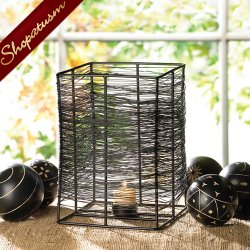 24 Candle Holder Wholesale Large Centerpieces Thatched Metal Wire Woven