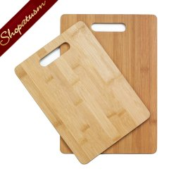 Bamboo Cutting Board Duo Sleek Carving Board Set