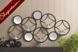 Mid Century Modern Wall Sconce with Mirrors Wall Decor