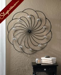 Gorgeous Circle Iron Wall Sconce Stylish Wall Centerpiece