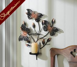 Beautiful Butterflies Charming Wall Sconce Wall Decor