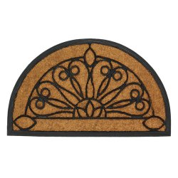 Half Moon Entry Mat Stylish Rubber & Coir Front Door Floor Mat