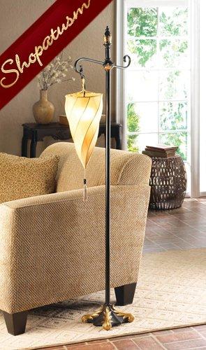 Spiral Hanging Cone Shade Unique Floor Lamp