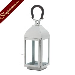 Stainless Steel Wedding Centerpiece Nova Silver Medium Candle Lantern