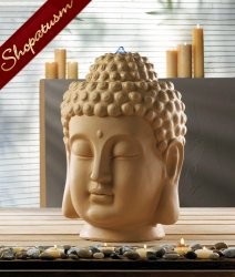 Buddha Fountain, Calming Buddha Head Fountain, Meditation Fountain