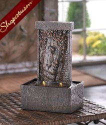 Buddha Tabletop Fountain, Peaceful Buddha Fountain, Buddha Meditation Fountain