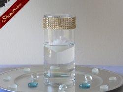 Gold Wedding Bling Vases, Rhinestone Floating Candle Vase, Wedding Centerpieces