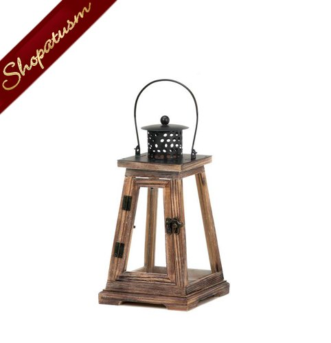 Wood wedding centerpieces small rustic lanterns