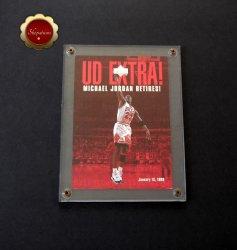 Michael Jordan 1999 Upper Deck UD Extra Michael Jordan Retires Card #UDX