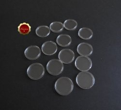 14 Clear Plastic Coin Holders, 32mm Coin Capsules For 1 oz Gold Eagle Coins
