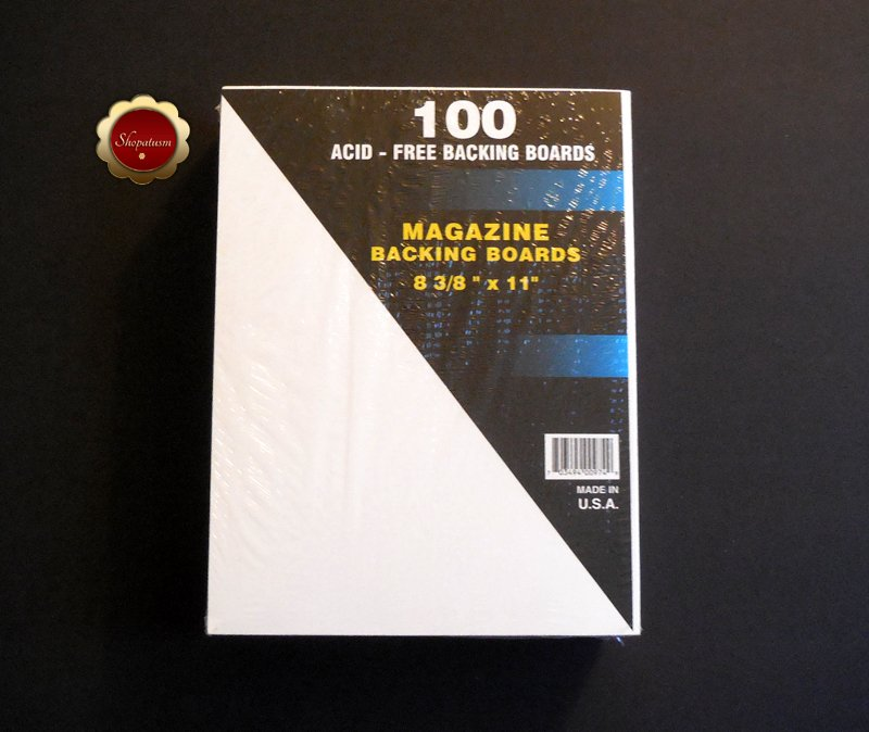 100 Magazine White Backing Boards Acid Free Backer Boards