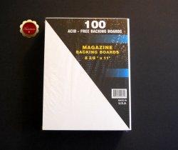 100 Magazine White Backing Boards Acid Free Backer Boards
