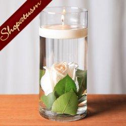 12 Floating Candle Cylinder Vases, Wedding Centerpiece, Candle Holder, 7 Inch