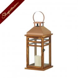 12 Med Contemporary Wood Lanterns Rose Gold Wedding Centerpieces Bulk Lot