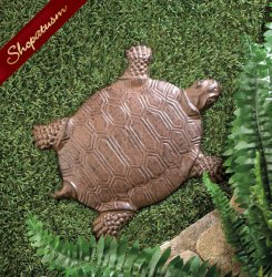 Cast Iron Turtle Stepping Stone Garden Yard Art