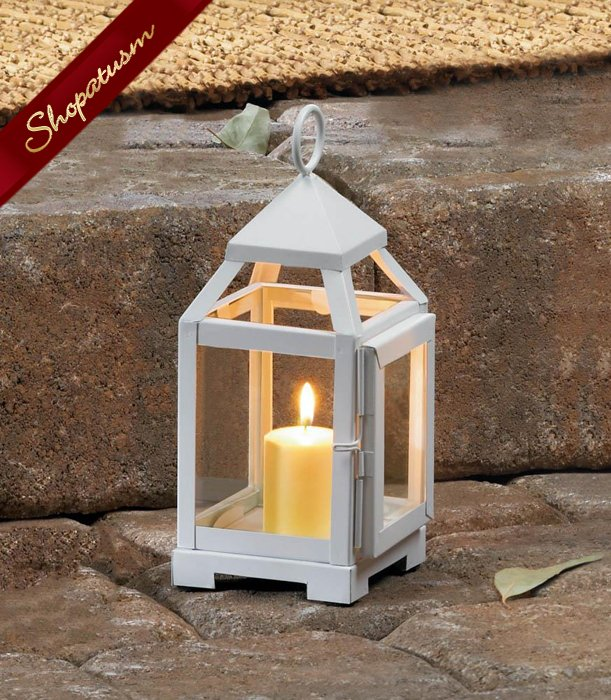 12 Lanterns White Mini Wedding Centerpieces Contemporary Bulk Lot