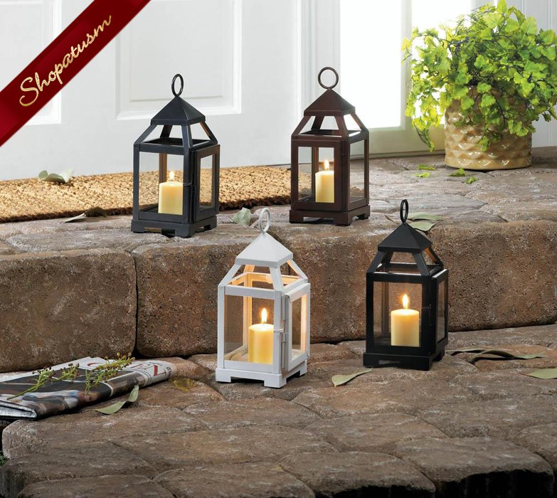 Image 1 of 48 Wholesale Lanterns Wedding Centerpieces White Mini Contemporary Bulk Lot