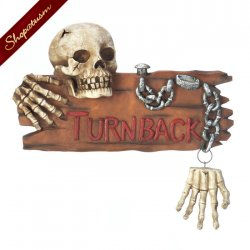 Spooky Skeleton Door Knocker Halloween Decor
