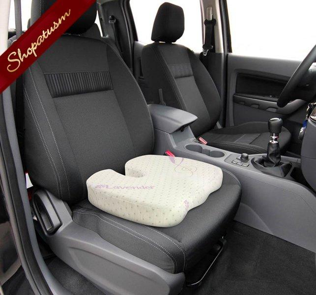 Image 2 of Lavender Bamboo Memory Foam Seat Cushion Bamboo Fiber Pillow Cover