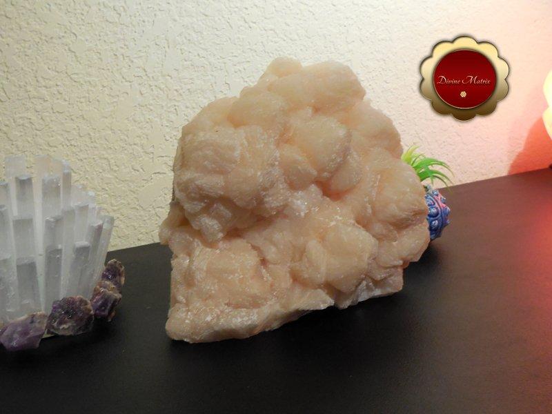 Image 3 of Large Peach Stilbite Cluster Psychic Awareness Heart Chakra 7 lb Slab