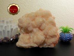 Large Peach Stilbite Cluster Psychic Awareness Heart Chakra 7 lb Slab