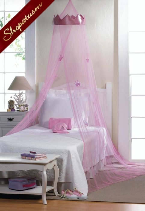 Pink Princess Bed Canopy Bed Net for Little Girls Childrens Bedding Decor