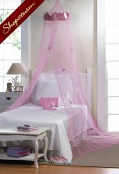 Girls Pink Princess Bed Canopy Bed Net Childrens Bedding Decor