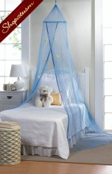 Boys Blue Starry Sky Bed Canopy Magical Bed Net