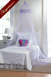 Girls Bed Net Magical Purple Bed Canopy Childrens Bedroom Decor