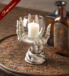 Skeleton Candle Holder Halloween Decor Centerpiece