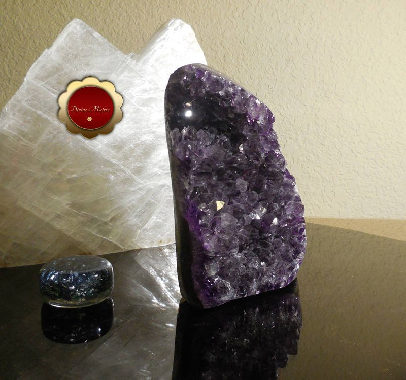Image 1 of Raw Amethyst Geode Cluster Protection Crystal Energy Healing Brazil