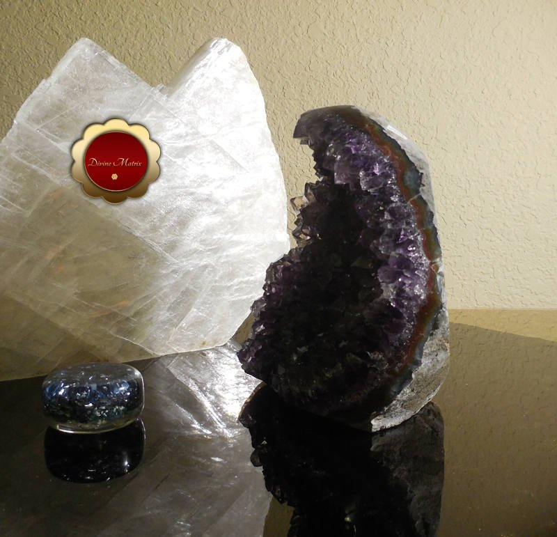 Image 2 of Raw Amethyst Geode Cluster Protection Crystal Energy Healing Brazil