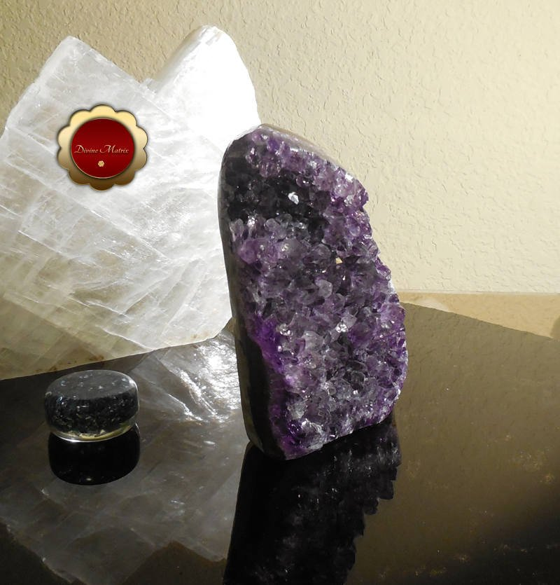 Image 6 of Raw Amethyst Geode Cluster Protection Crystal Energy Healing Brazil