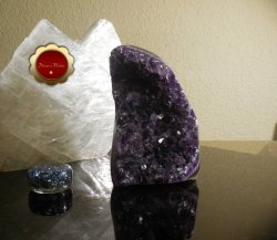 Raw Amethyst Geode Cluster Protection Crystal Energy Healing Brazil