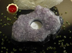 Raw Amethyst Cluster Tealight Candle Holder Great For Altar Protection Crystal