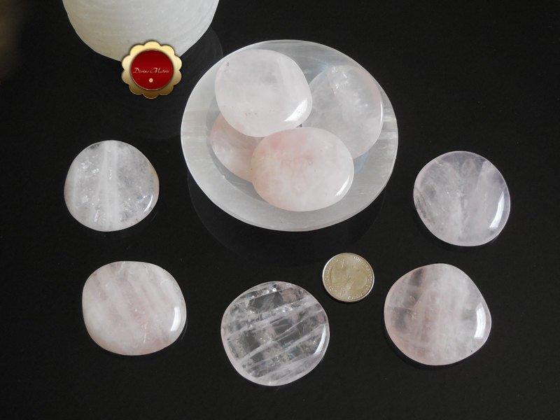 Large Rose Quartz Worry Stone Palm Stones Heart Chakra Self Love
