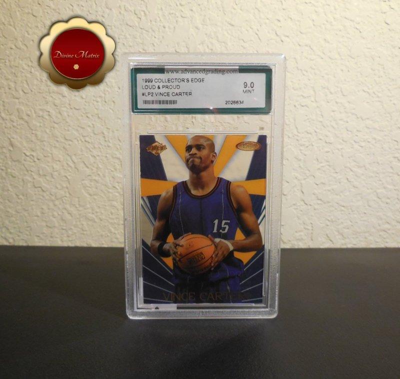 Vince Carter Rookie Card, 1999 Collector's Edge Loud & Proud #LP2 AGS Mint 9.0