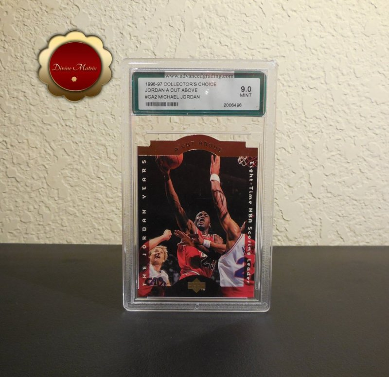 Michael Jordan 1996-97 Collector's Choice Jordan A Cut Above #CA2 AGS Mint 9.0