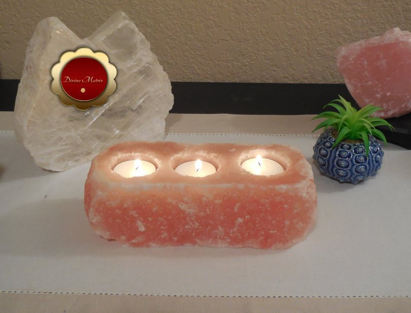 Himalayan Rock Salt Tealight Candle Holder Remove Negative Energy Meditation