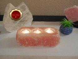 Himalayan Rock Salt Tealight Candle Holder Remove Negative Energy Meditation