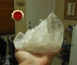 Large Clear Quartz Cluster Point Raw Crystal Points with Stand Master Healer