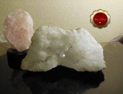 Large Raw Clear Quartz Cluster Druzy Geode Snow White Master Healer