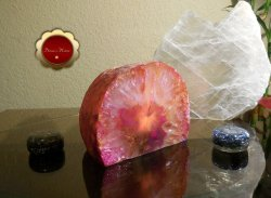 Pink Agate Tealight Candle Holder Crystal Decor