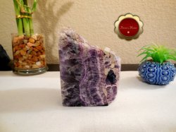 Large Purple Fluorite Polished Protects Against Psychic Attack Negative Energy