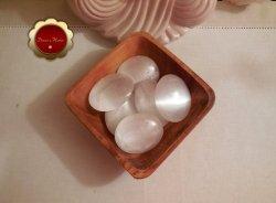 Large Carved Selenite Palm Stones Large Soap Stone Remove Negative Energy